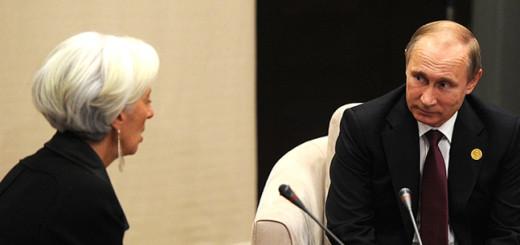 Владимир Путин с директором-распорядителем Международного валютного фонда Кристин Лагард. Фото: kremlin