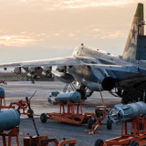 Российские штурмовики Су-25 на авиабазе «Хмеймим», Сирия Фото: © AP Photo, Russian Defense Ministry Press Service via AP