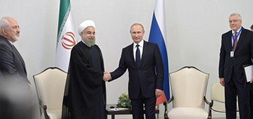 C Президентом Исламской Республики Иран Хасаном Рухани. Фото: kremlin