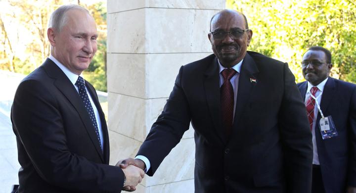 С Президентом Республики Судан Омаром Баширом. Фото: kremlin